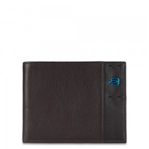 Piquadro brown man wallet AW18