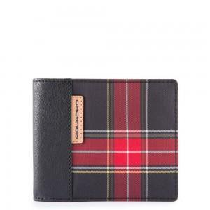 Piquadro horizontal wallet check SS19