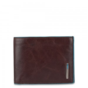Piquadro mahogany wallet and cards holder SS19