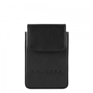 Piquadro black credit card holder SS19