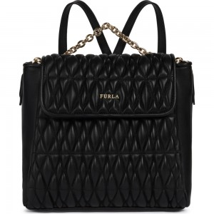 Furla Pin Cometa black backpack AW19