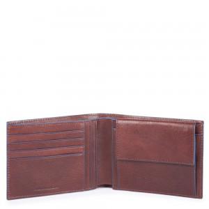Piquadro Blue Square brown wallet