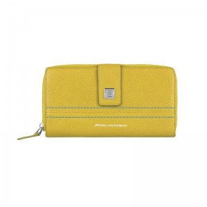 Piquadro two compartments yellow