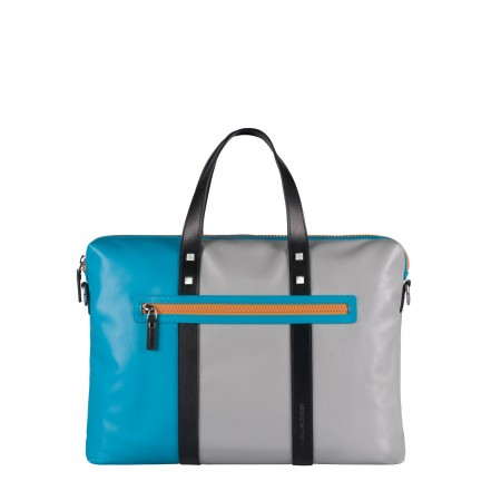 Piquadro briefcase grey and azure