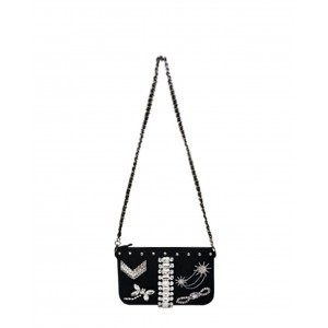Mia Bag envelope strass black SS17