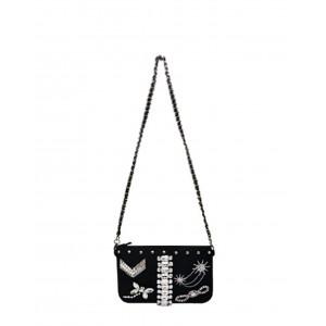 Mia Bag enveloppe strass noir PE17