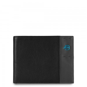 Piquadro black wallet and coins holder AW18