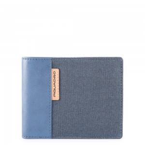 Piquadro horizontal wallet light blue SS19