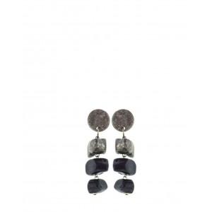 No.Nu earrings Stone black AW19