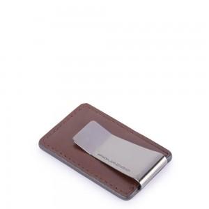 Piquadro Bold money clip brown