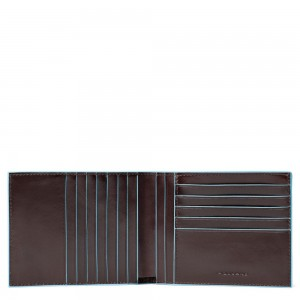 Piquadro men's wallet 12 cards brown