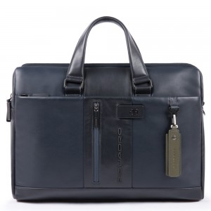 Piquadro blue briefcase PC holder