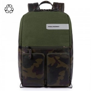 Piquadro backpack fast check Tiros green