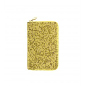 Borbonese yellow zip around wallet SS20