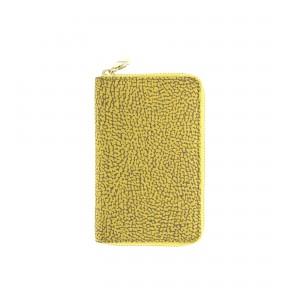 Borbonese yellow zip around wallet SS20