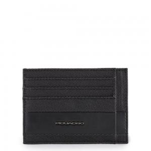 Piquadro Tokyo credit card holder black SS20
