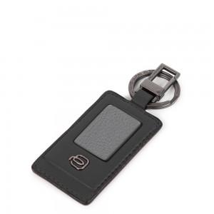 Piquadro black keychain Akron AW20