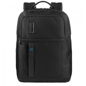 Piquadro black laptop backpack AW20