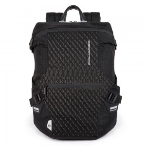 Piquadro black backpack with PQ-Y AI20