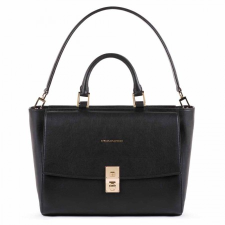 Piquadro black laptop bag AW20