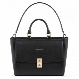 Piquadro black laptop bag AW20