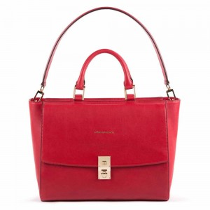 Piquadro red laptop bag AW20