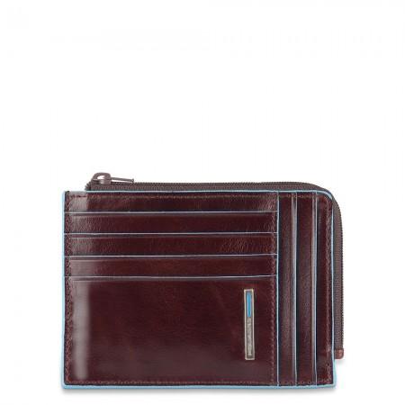 Piquadro Blue Square mahogany coin purse AW20