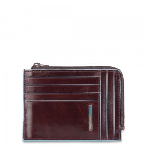 Piquadro Blue Square mahogany coin purse AW20