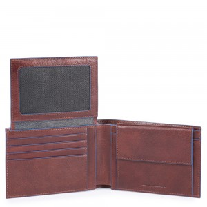 Piquadro dark brown wallet AW20