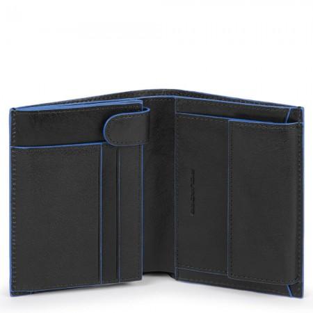 Piquadro black vertical wallet AW20
