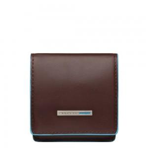 Piquadro mahogany square purse AW20