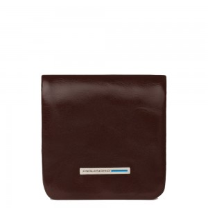 Piquadro soft mahogany coin purse AW20