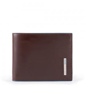 Piquadro mahogany slim wallet AW20