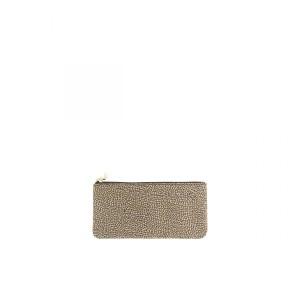 Borbonese flat pouch beige SS21