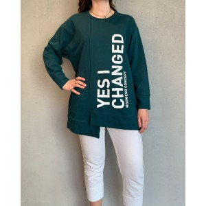 Noumeno Concept green sweatshirt SS21