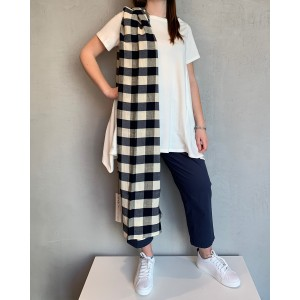 Neirami Riviera black, white and blue scarf SS21
