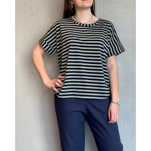 Neirami T-Shirt Seagrass black and white SS21