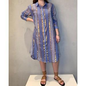 Wild dress Pia Blue SS21