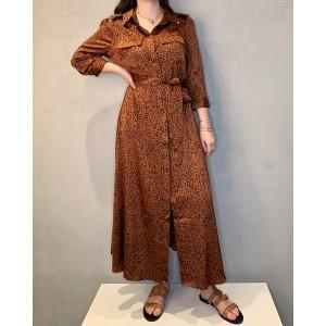 Wild long dress Wood Rust SS21