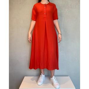 Neirami Poppy red dress SS21