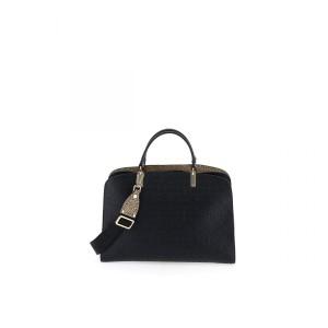 Borbonese medium handbag in black SS21
