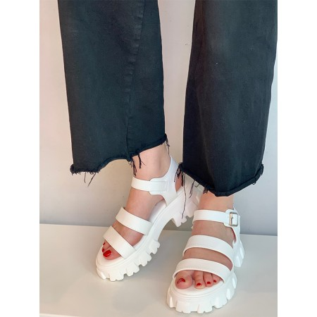 Shoes Formentini white strappy sandals