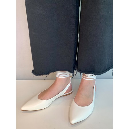 Shoes Formentini white ballerina shoes