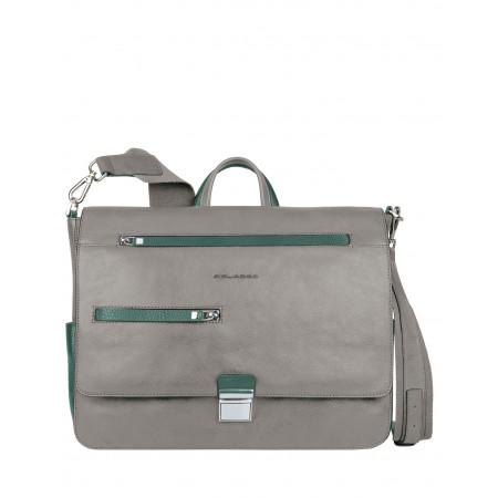 Piquadro Messenger grey leather